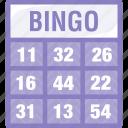 bingo, card, housie, ticket icon