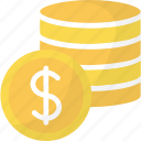 chips, coins, of, stack icon