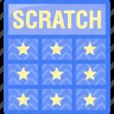 scratch, scratch card, scratch off, ticket icon
