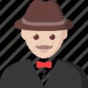 gambler, gambling, man, player, poker icon