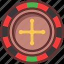 american, casino, roulette, wheel icon