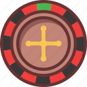 casino, roulette, wheel icon