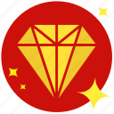 accessory, conics, diamond, jackpot, jewelry, prize, rich icon
