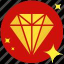 accessory, conics, diamond, jackpot, jewelry, prize, rich icon