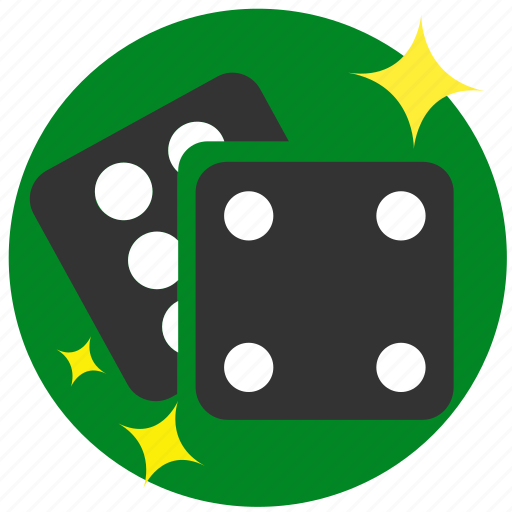 casino, dice, dice pieces, gambling, game, roll icon