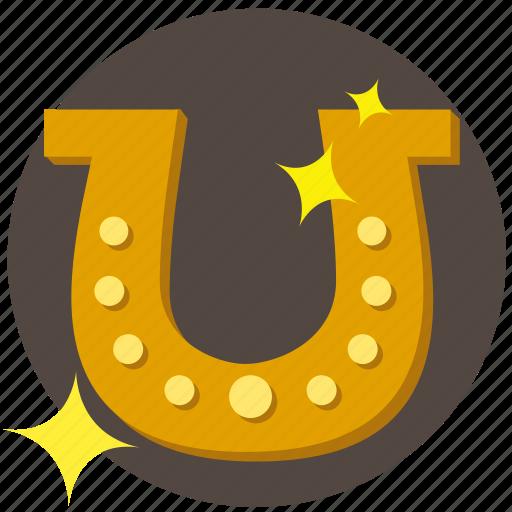 casino, fortune, gambling, horseshoe, luck, shoe icon