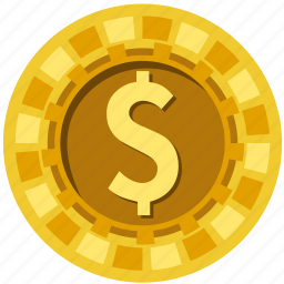 bet, casino, chip, coin, gamble, gambling, poke icon