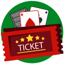 blackjack, card, card game, casino, gamble, gambling, ticket icon
