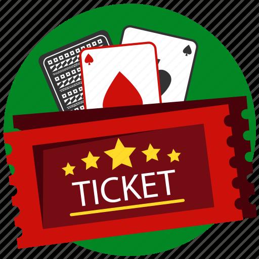 blackjack, card, card game, casino, gamble, gambling, ticket icon