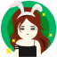 bunny, cleaner, girl, hairstylist, pretty, sexy, waitress icon
