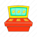 cartoon, casino, game, jackpot, machine, sign, slot icon