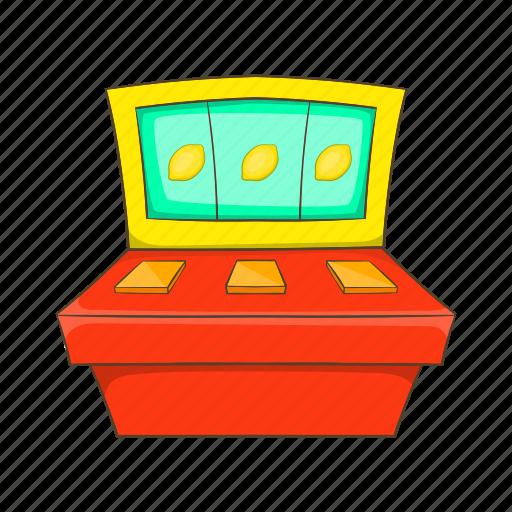 cartoon, casino, game, jackpot, machine, sign, slot icon