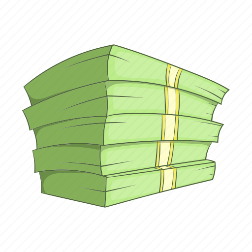 Banking, cartoon, cash, currency, money, sign, stack icon - Download on Iconfinder
