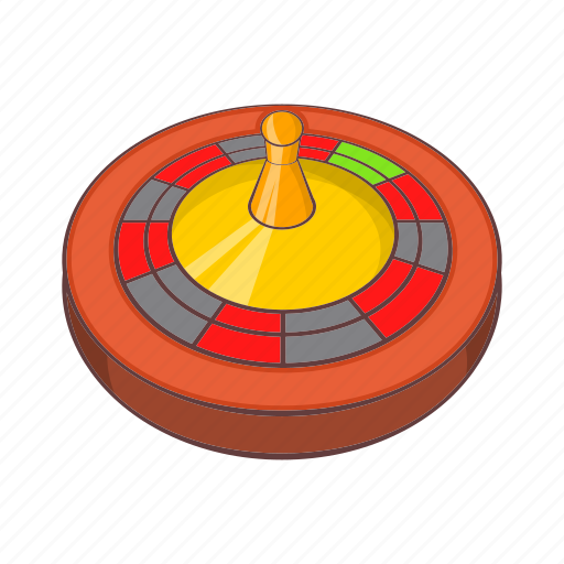 cartoon, casino, chance, game, luck, roulette, sign icon