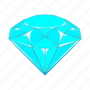 cartoon, crystal, diamond, gem, jewel, precious, sign icon