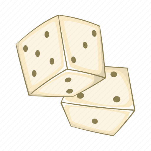 bet, cartoon, chance, dice, game, sign, win icon