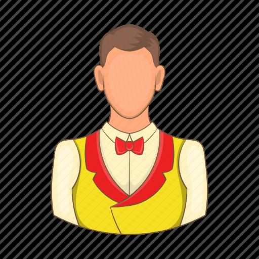 cartoon, casino, croupier, design, game, man, sign icon