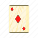 card, cartoon, diamonds, game, playing, poker, sign icon