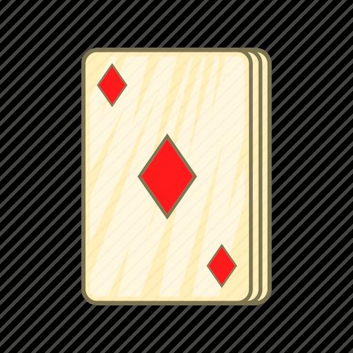 card, cartoon, diamonds, game, playing, poker, sign icon