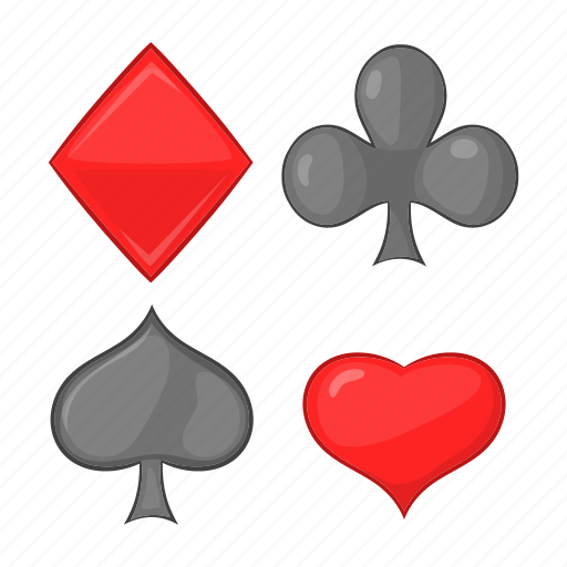 Card, cartoon, diamonds, hearts, poker, sign, suits icon - Download on Iconfinder