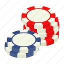 casino, chip, gambling, game, isometric, leisure, poker icon