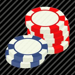 casino, chip, gambling, game, isometric, leisure, poker icon