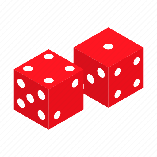 casino, cube, dice, gamble, game, isometric, play icon
