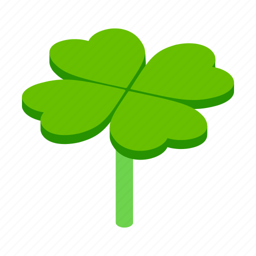 clover, four, illustration, isometric, leaf, luck, lucky icon