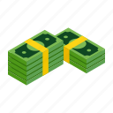 finance, isometric, money, rich, saving, success, wealth icon