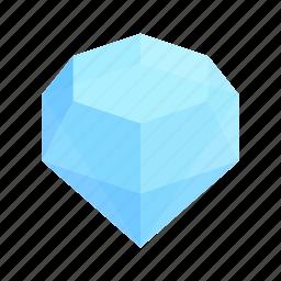 crystal, diamond, gem, isometric, jewelry, precious, treasure icon