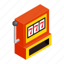 casino, gamble, game, isometric, jackpot, machine, win icon