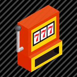 casino, gamble, game, isometric, jackpot, machine, win icon