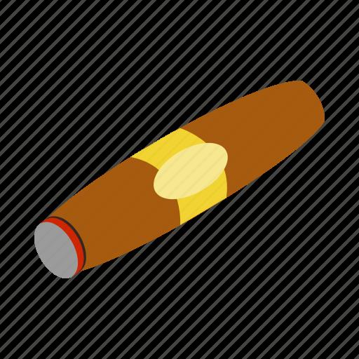 cigar, cuban, habit, isometric, leaf, smoke, tobacco icon