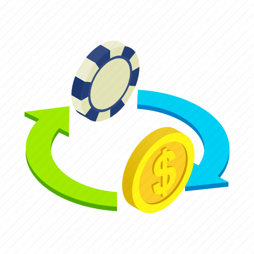 casino, chance, chip, dollar, luck, modern, money icon