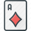 card, casino, diamond, game, leisure icon