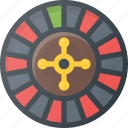 casino, leisure, roulette icon