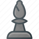 bishop, chess, figure, game, leisure icon