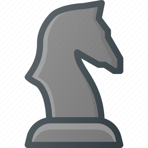 chess, figure, game, knight, leisure icon