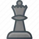chess, figure, game, leisure, queen icon