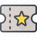 cinema, entry, leisure, pass, theatre, ticket icon