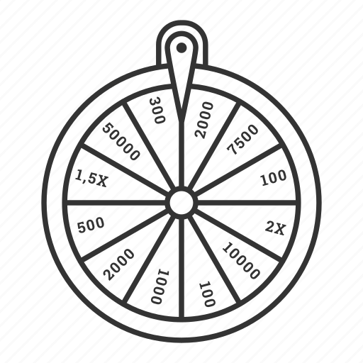 casino, fortune, gambling, game, luck, roulette, wheel icon
