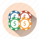 bet, casino, casino game, chips, gambling, playing card, poker icon