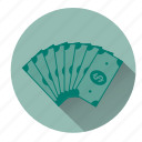cash, dollars, exchange, finance, money, notes, payment icon