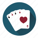 card, cards, casino, gambler, gambling, heart, poker icon