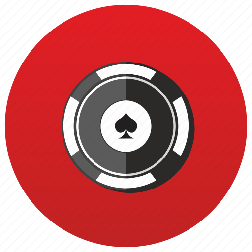 casino, chip, gamble, poker, red, table icon