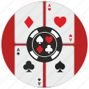cards, casino, gamble, game, poker icon