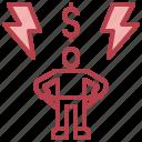 avatar, broke, casino, dollar, money icon