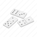 domino, equipment, gambling icon