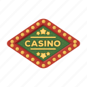 casino, emblem, equipment, gambling, sign, signboard icon