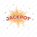 casino, gambling, jackpot, winning icon